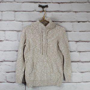 LL BEAN Turtle Neck Kangaroo Pocket Sweater Size S